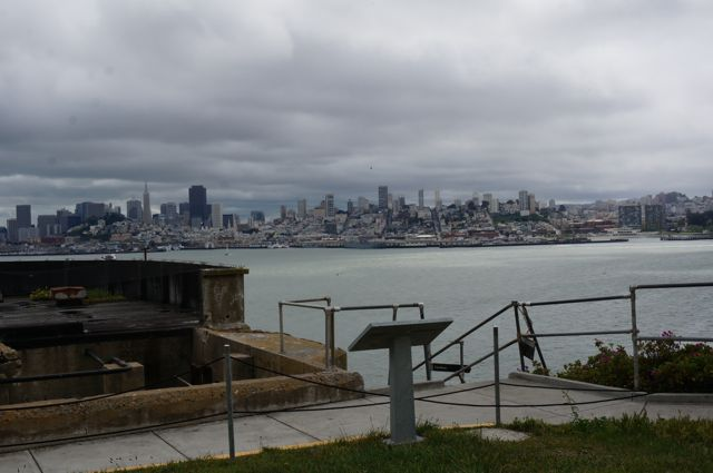 View of the city from Alcatraz