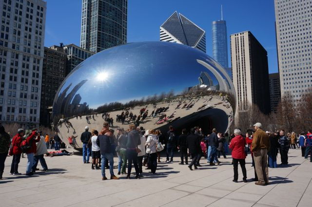 The Bean on our only sunny day