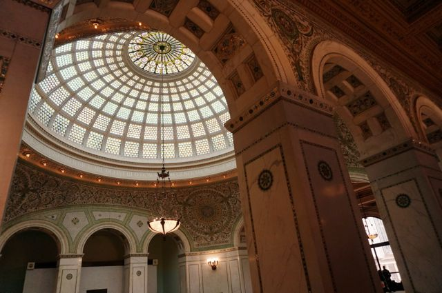 The stunning glass Tiffany dome