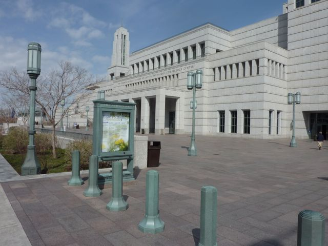 The Mormon Convention Centre opposite Temple Square, Salt Lake City