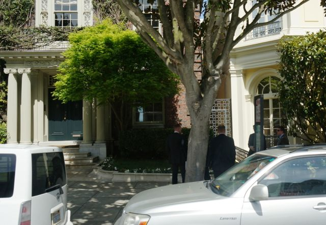 the Secret Service outside Ann Getty's house