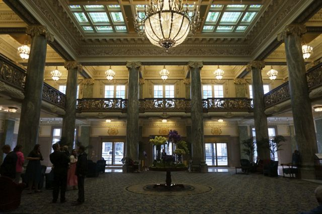 The lobby in the Joseph Smith building