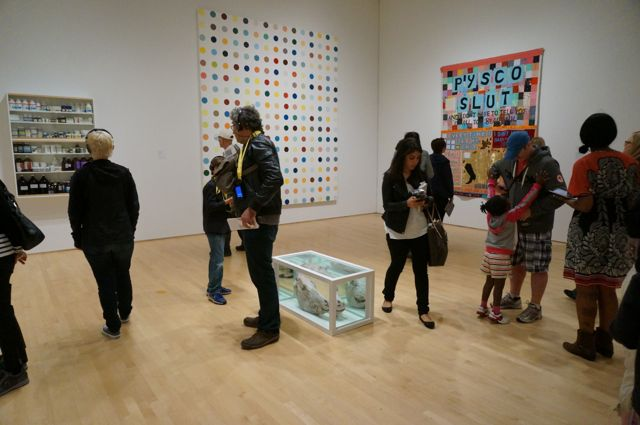 Hirst and Emin at the San Francisco Museum of Modern Art