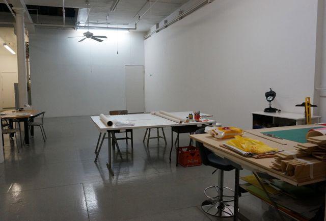 The rather daunting studio walls