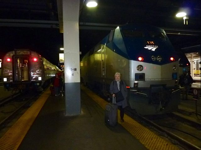 Arriving at the Chicago Amtrak Station