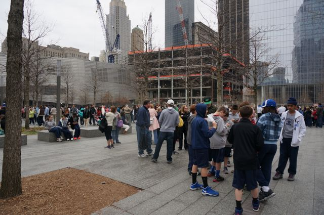 The 9/11 Memorial courtyard