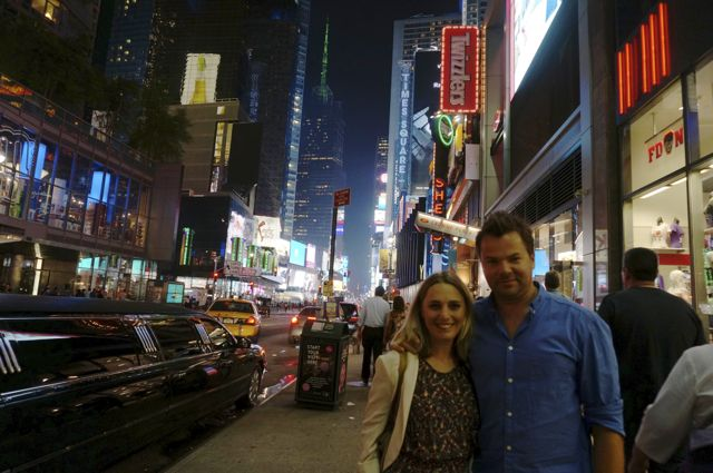 Simon and Bec in Times Square