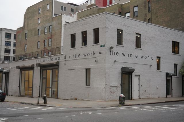 Martin Creed on the exterior of Gavin Brown's Enterprise