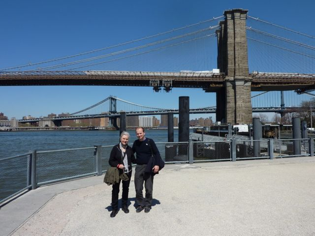 With Ivars Kakis at Brooklyn Heights.