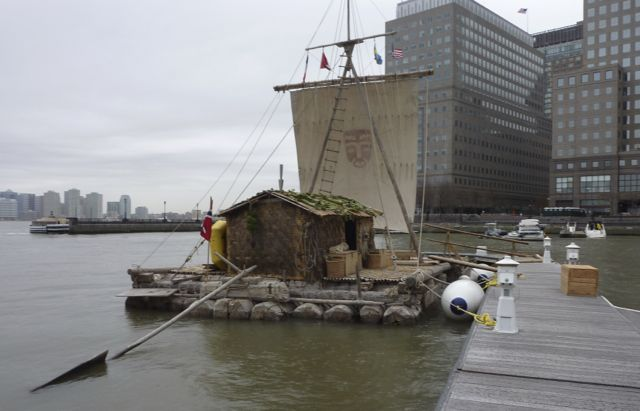 The replica of the Kon-Tiki