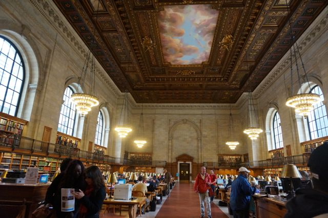 The main reading room in the NYPL