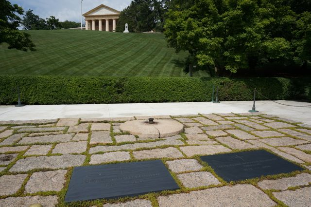 The Memorial to John F Kennedy and his wife Jackie Onassis