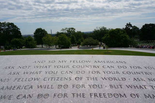 The view from the John F Kennedy memorial.