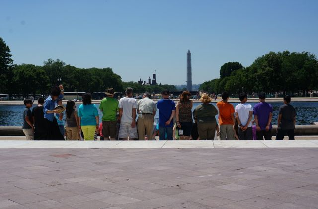 View from the Capitol towards the Washington Monument