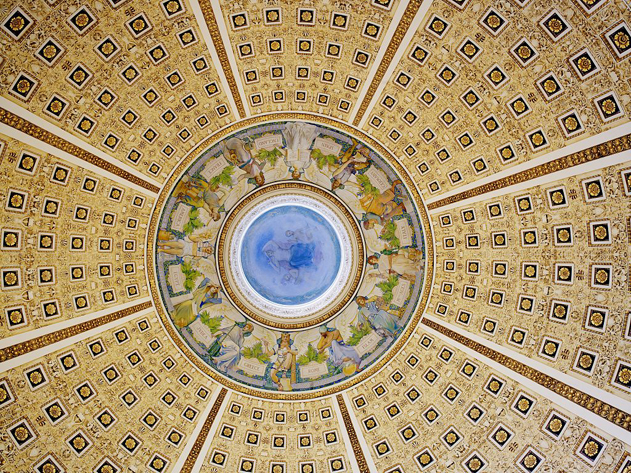 The stunning dome within a dome ceiling