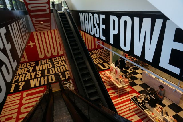Barbara Kruger in the Hirschorn