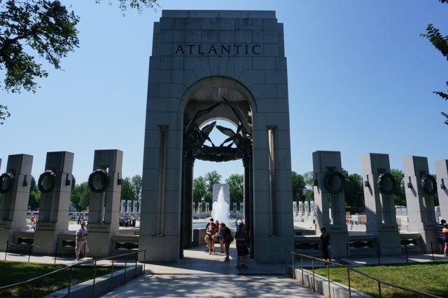 Another view of the World War II Memorial