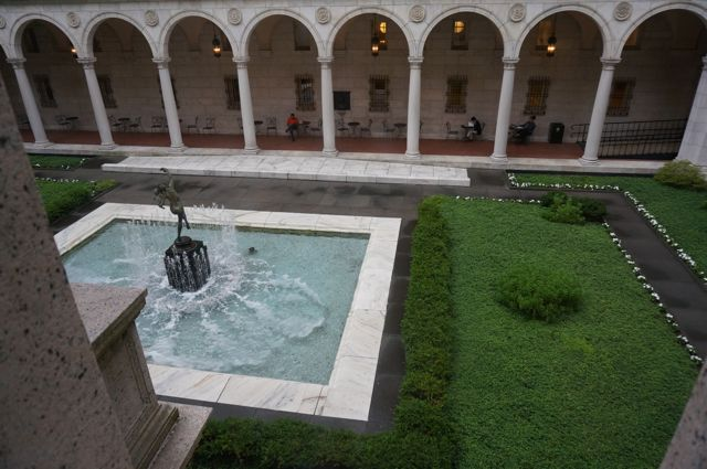 The Courtyard between the two buildings