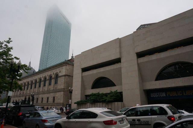 The modern extension to the Boston McKim Building