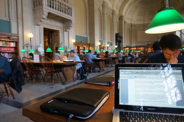 From my seat in the Bates Reading Room