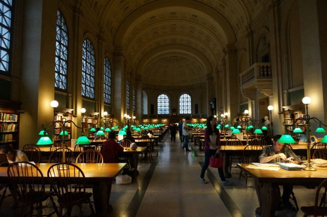 The Bates Reading Room in the Boston Public Llibrary