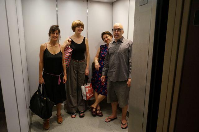 Saying goodbye in the Greene Street lift