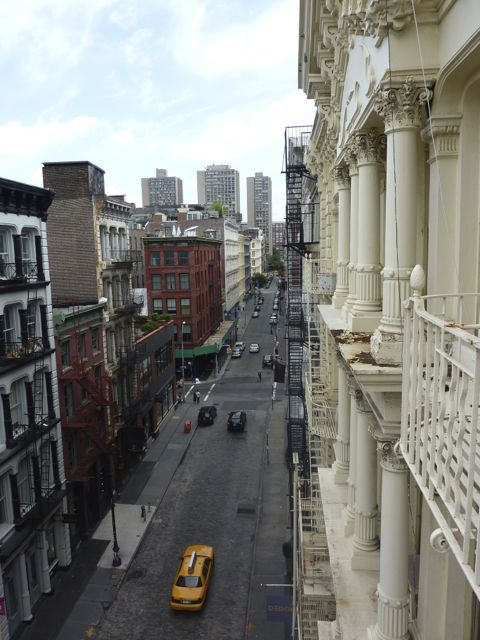 Final view down Greene Street from the fire-escape