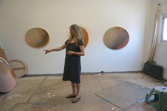 Gwen in her studio
