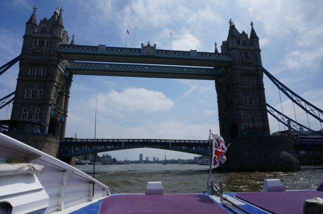 Sailing under London Bridge