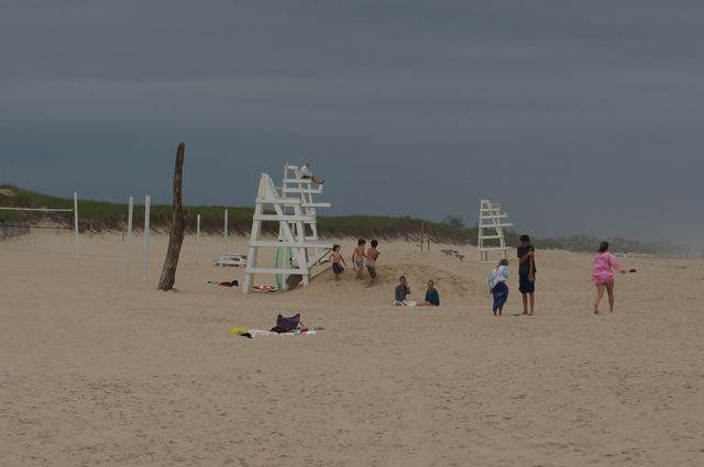 Another view of the beach with Jeff in the life guard's seat