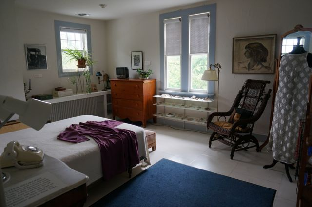 Krasner's bedroom, which was Pollock's first studio in the house