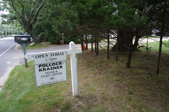 The entrance to the Pollock Krasner house
