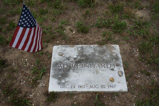 Ad Reinhardt's grave