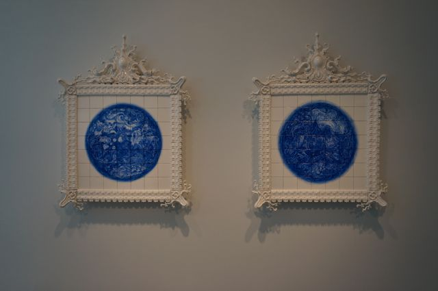 More ceramic work in the Blue and White show