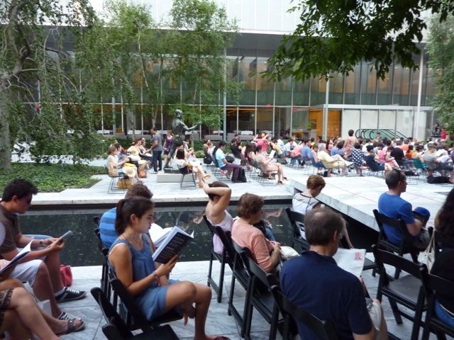 A free concert in MoMa's Sculpture Courtyard