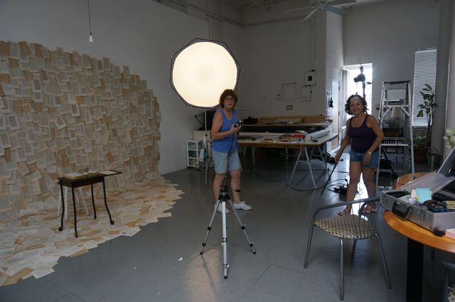 The photo shoot with Sardi and Kathy as assistant