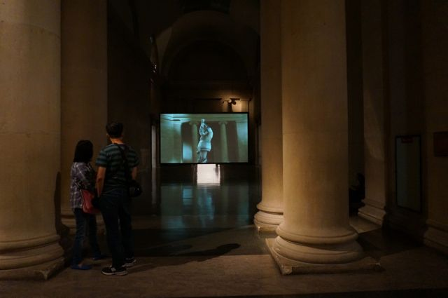 Simon Starling in the Duveen gallery