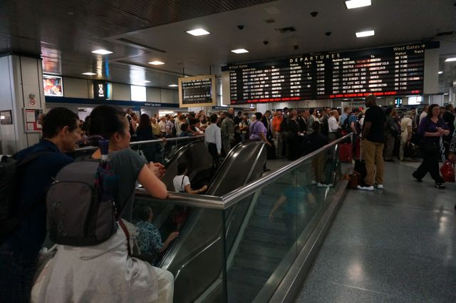 Waiting for the train to Boston at Penn Station