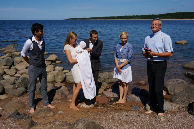 The Christening on the beach